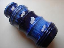 Scheurich, 60-70iger Jahre Fat Lava Vase, 266-28, 28cm, Blautöne
