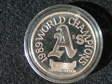 OAKLAND A's 1989 WORLD SERIES CHAMPS BATTLE OF THE BAY 1 OZ .999 SILVER COIN
