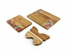 Pioneer Woman Floral Cutting Board Acacia Wood 3 pieces
