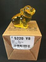 Fenton Art Glass Buttercup Pig In Original Box