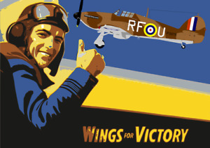 NOVELTY POSTER (WINGS FOR VICTORY) SOUVENIR FRIDGE MAGNET / BRAND NEW / GIFTS