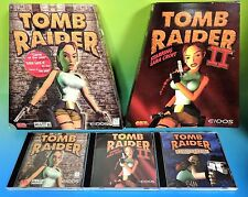 Tomb Raider 1 + 2 + Lost Artifacts Trapezoid Big Box Pc Computer Lot I Ii Rare