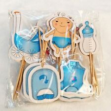 Birthday Party Cake Decoration Family Strollers Bottle Baby Cupcake Toppers