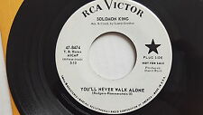 SOLOMON KING - I Believe / You'll Never Walk Alone PROMO 1964 POP RCA Victor 7""