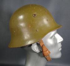 WW2 GERMAN COMBAT STEEL HELMET HAT M36 M1936 STAHLHELM CASQUE~ROLLED EDGE RARE!!
