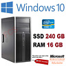 HP Elite 8300 Desktop PC Core i7 16GB RAM 240GB SSD Windows 10 Pro Desktop Wi-Fi