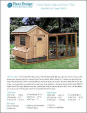 Saltbox Chicken Coop with Lean-to Kennel Combo Project Plans, Design 50410SL