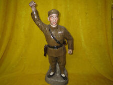 Historic Cultural Revolution WuCai Porcelain Man Soldiers Statue Figure