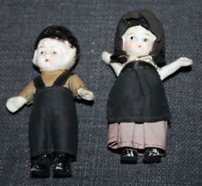 Miniature Vintage Bisque Dolls Amish Couples Japan
