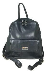 Perlina Black Leather Multi Pocket Backpack – Distressed