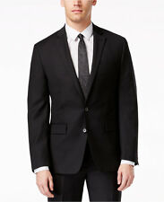 $595 Ryan Seacrest 36S30W32L Black Solid Two Button New Men's Suit Set SC911