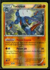 Pokemon TOXICROAK 59/114 - XY Steam Siege - RARE Rev Holo - MINT