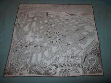 VINTAGE UNUSED MAP OF PASADENA CALIF.  HANKIE HANDKERCHIEF