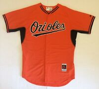 Baltimore Orioles Size48 Majestic Authentic Orange Baseball Jersey MLB Cool Base