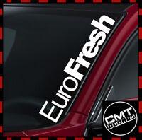 Windscreen Decal EuroFresh Car Sticker DUB VW Euro German Race 17 Colours 550mm