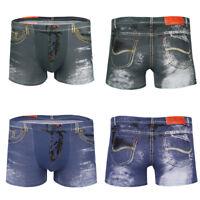 Summer 3D Men's Cartoon Shorts Denim Jeans Boxer Briefs Pouch Underwear Pants