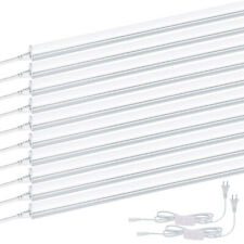 10PCS T5 4FT LED Tube Light Fixtures 20W 6000K 2200LM Shop Lights Frosted Cover