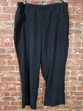 Soft Surroundings 3X Plus Size Tencel Pants Comfort Pull On Elastic Waist Black