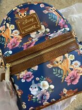 Loungefly Disney Bambi & Thumper Floral Allover Print Mini Backpack NWT