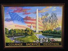 Framed Paint by Number Painting – Patriotic Images of Washington DC