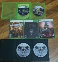 Lot of 7 Xbox 360 Games Tested and Work Various Titles