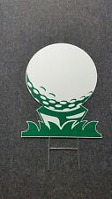 Lot of 10 Corrugated Plastic Golf Ball Signs with Stands