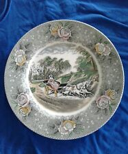 """Antique Plate N CURRIER LITHOGRAPHERS ADAMS The Star of the Road 1940's 10 1/2"""""""