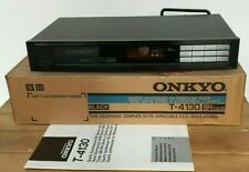 ONKYO T-4130 QUARTZ STEREO FM/AM TUNER WITH BOX & MANUAL - EXCELLENT CONDITION