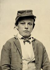 American Civil War Confederate Boy Soldier 1860s 7x5 Inch Reprint Photo Portrait