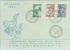86792 - FINLAND - Postal History - FDC COVER  1955  - FAUNA peace DOVES Birds