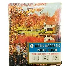 Vintage 80s Photo Album Magnetic Fall Autumn Leaves New Sealed