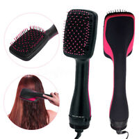 Salon Beauty 2 in 1 1000W Smoothing Hair Dryer & Paddle Brush Hair Styler Comb