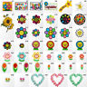 #3000R Smiley Face Flower Message Craft Embroidered Sew Iron On Patch Applique
