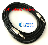 """20ft 1/4"""" Instrument Guitar Bass Amp Keyboard Audio Patch Cable Cord Wire VWLTW"""