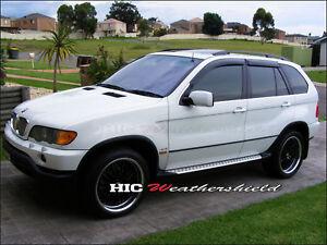 HIC BMW X5 E53 WAGON 99-07 WEATHER SHIELD WEATHERSHIELD WINDOW DOOR VISOR GUARD