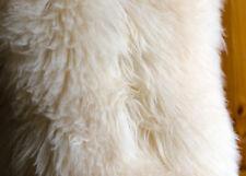 Genuine Sheepskin Natural XXL LARGE 115-120cm / 65-75cm White / Cream Fur Rug