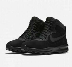 Nike Manoadome Nubuck Black Walking Boots 844358 003 Mens Size UK 6 EUR 40