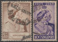 Singapore 1948 Silver Wedding Set Used