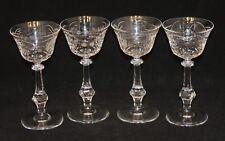 4 Miller Rogaska Crystal Stems 6 Inch Flared Etched Claret Wine Glasses