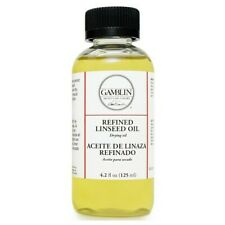 GAMBLIN ARTISTS COLORS CO 06004 REFINED LINSEED OIL 4.2OZ/125ML