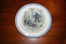 """Early Superb French Montereau Cabinet Or Wall Plates """"Les Grandes Manceuvres"""" #3"""
