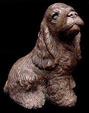 Cocker Spaniel Dog Statue Sculpture Antique Finish