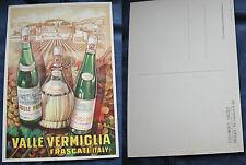 """CARTOLINA PUBBLICITARIA VINO STABILIMENTO VINICOLO """"VALLE VERMIGLIA - FRASCATI"""""""