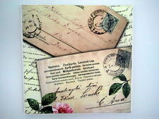 WALL Picture PLAQUE - VINTAGE/ RETRO style -Handmade  Letters / DECOUPAGE