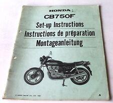Istruzioni di montaggio negozio Manual set-up instructions HONDA CB 750 F