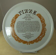 """Fine Seyei China Oven-to-Table Pizza Plate 12.25"""" Porcelain with Recipe Japan"""