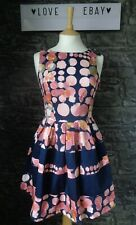 Closet Size 8 Kensington Navy Blue Contrast Band Dress