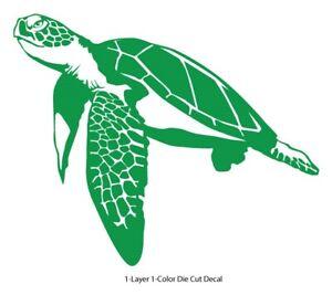 Sea life - Galapagos Ocean Turtle 2 Outdoor Window Decal Vinyl Sticker 6Yrs Film