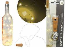 LEDs Drahtlichterkette Micro LED Lichterkette mit Batterien Flaschenstopfen Neu