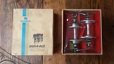 Shimano Dura Ace Dura-Ace Pro Model Front and Rear Hub 36 H Large Flange Retro